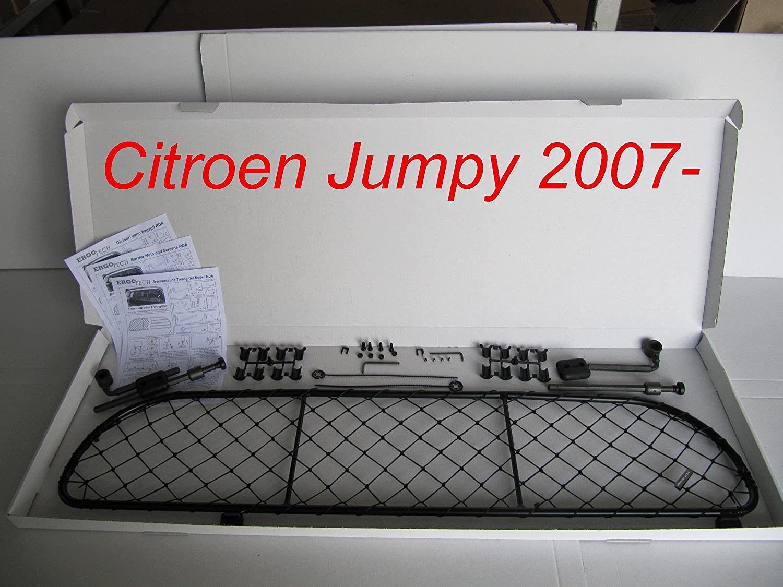 Trennnetz Trenngitter Hundenetz Hundegitter RDA100-XL16 für CITROEN Jumpy ab BJ 2007- Das Gitter kann entweder hinter der 2. oder 3. Sitzreihe eingebaut werden.