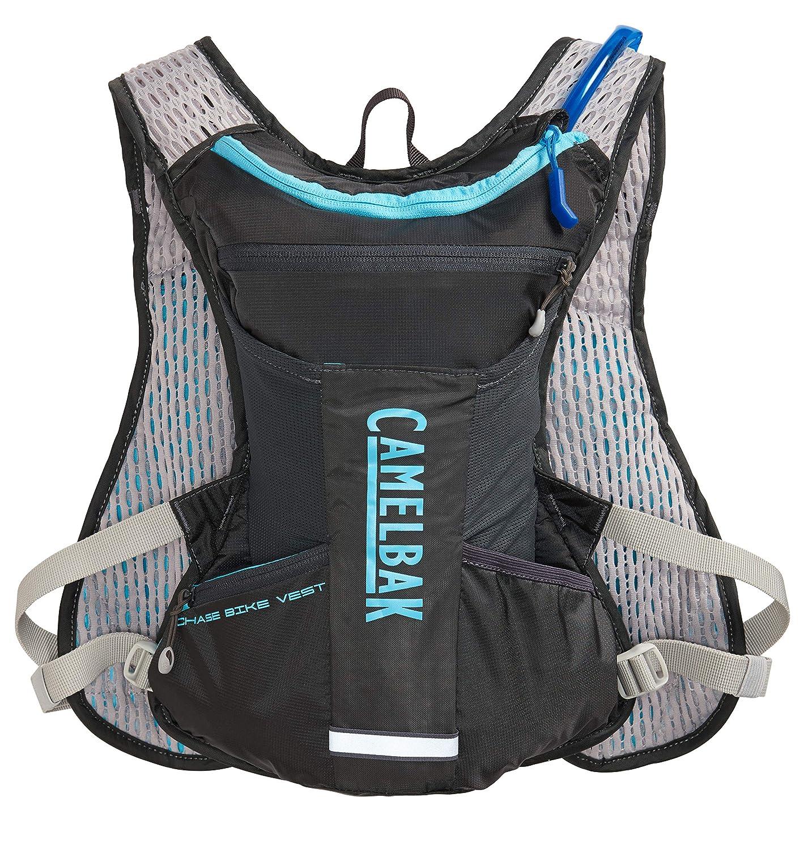 Amazon.com : CamelBak Womens Chase Bike Vest 50oz, Charcoal/Lake Blue, One Size : Sports & Outdoors