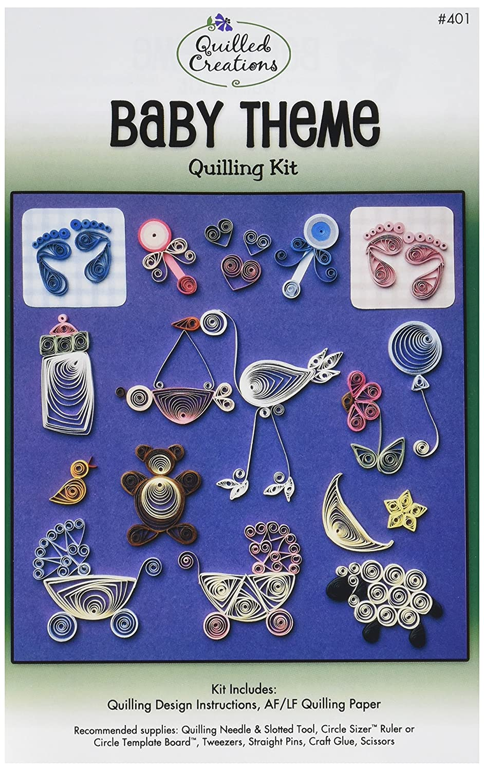 Quilled Creations Q40-16 Quilling Strips Flower Sample Kit