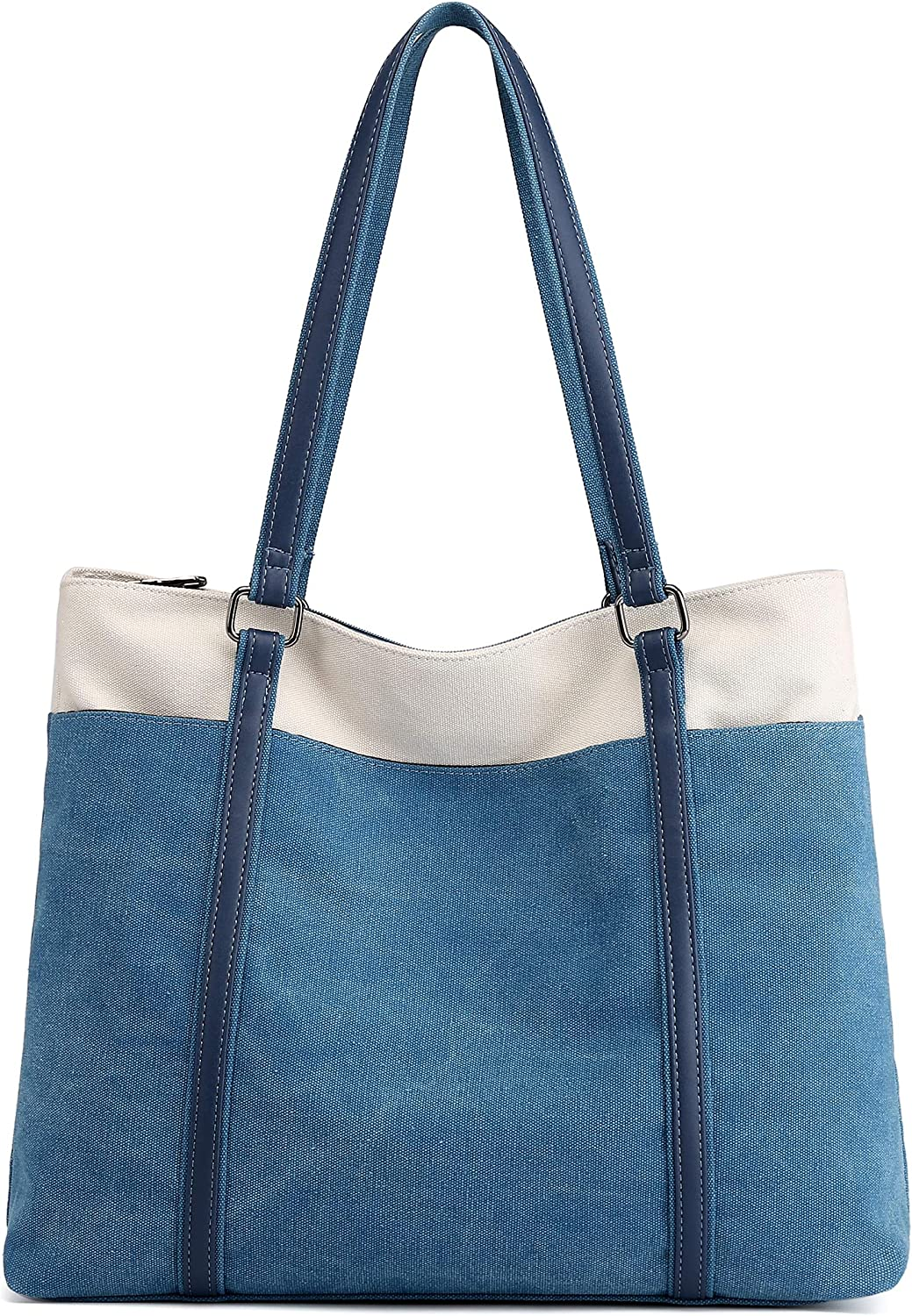 Scioltoo Laptop Tote Bag for Women 15.6 In Canvas Teacher Shoulder Bag With Zipper
