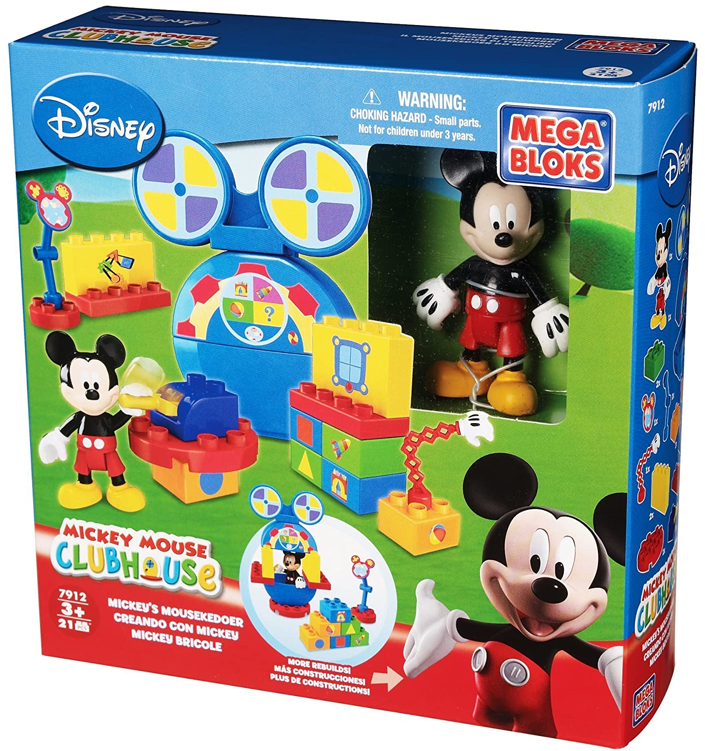 Amazon Mega Bloks Mickey Mouse Club House Builds Toys Games