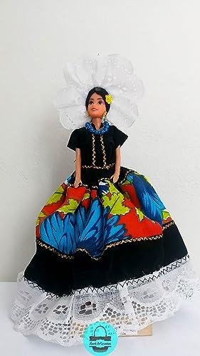 Muñeca Con Vestido De Tehuana Oaxaca Amazoncommx Handmade