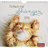 Einfach mal abhängen 2019: Dekorativer Wandkalender mit Monatskalendarium | Maße (BxH): 21x20cm