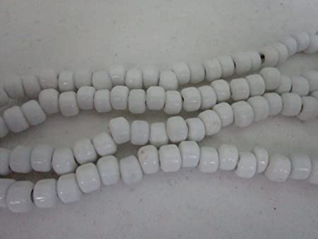 Light Blue Translucent Glass Crow Pony Beads Jewelry Craft Bead 100 pcs 9 x 6MM