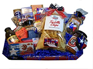 All Things Texas Premium Gift Basket This basket is perfect for Birthday gifts, welcome home and business gifts.