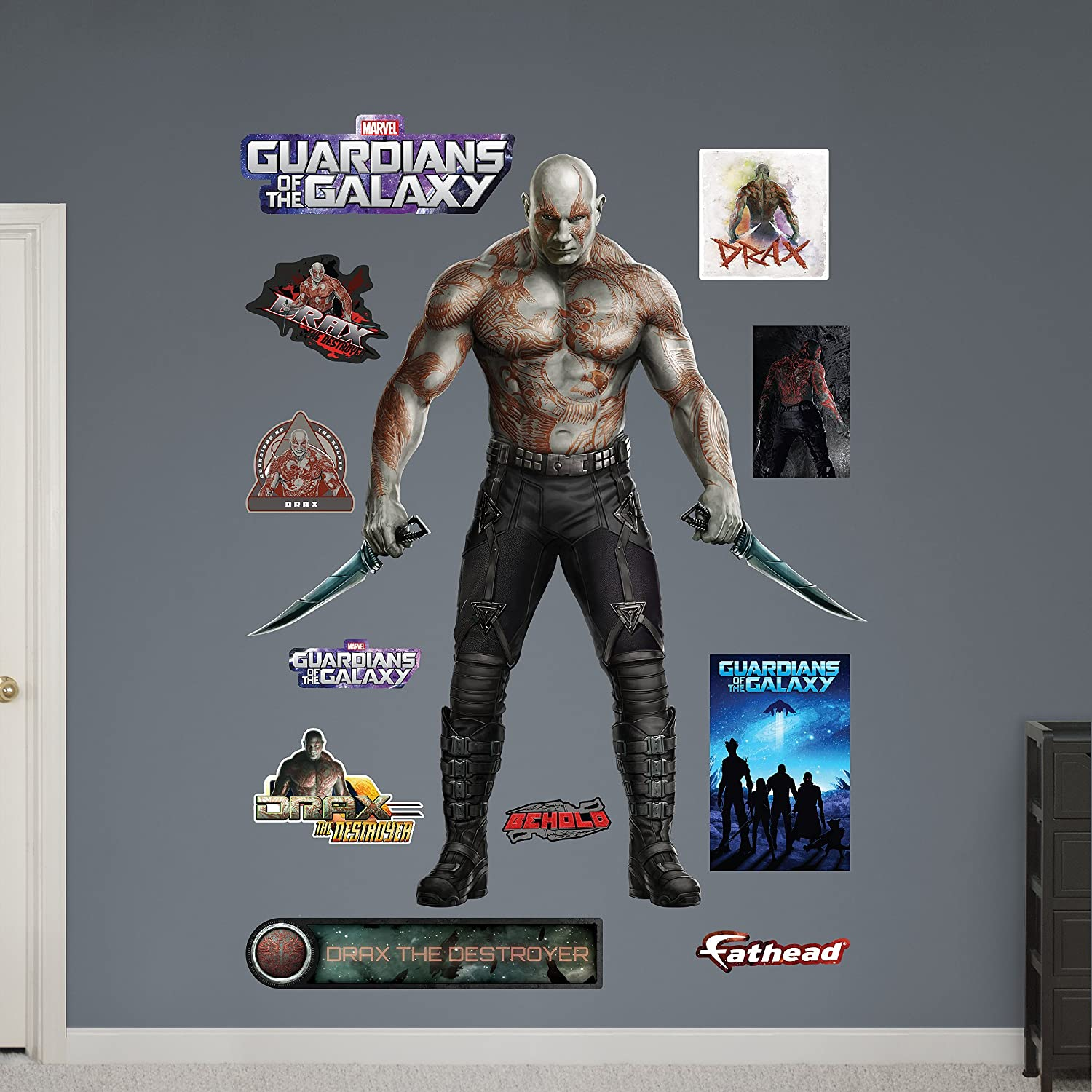 FATHEAD Drax The Destroyer Guardians of The Galaxy Decal