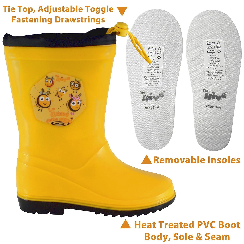 3303e6cf5 La colmena para niños Botas de agua botas de Wellington cordón ligero  Character botas de lluvia Junior tamaños 5 - 12