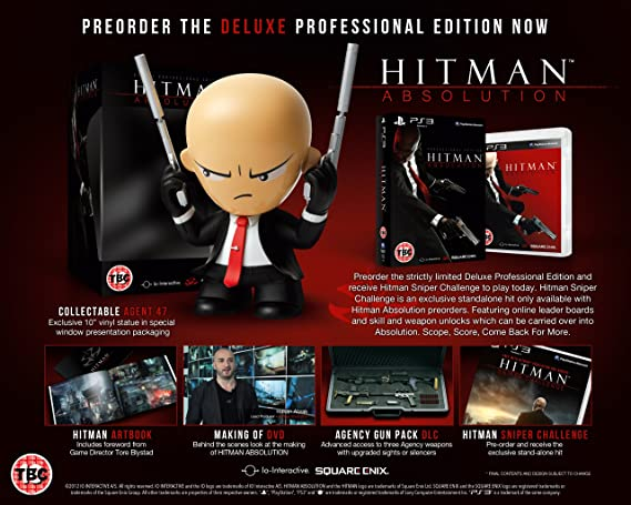 Hitman Absolution Deluxe Professional Edition Ps3 Amazon Co Uk Pc Video Games