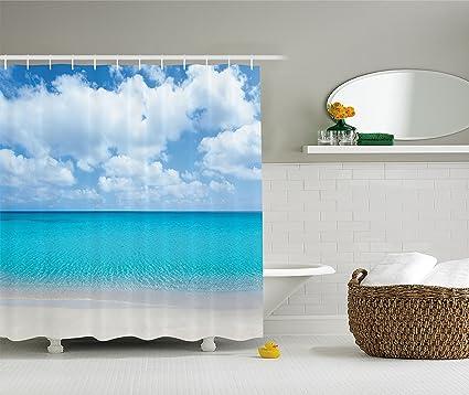amazon com ambesonne ocean decor collection solitude peaceful