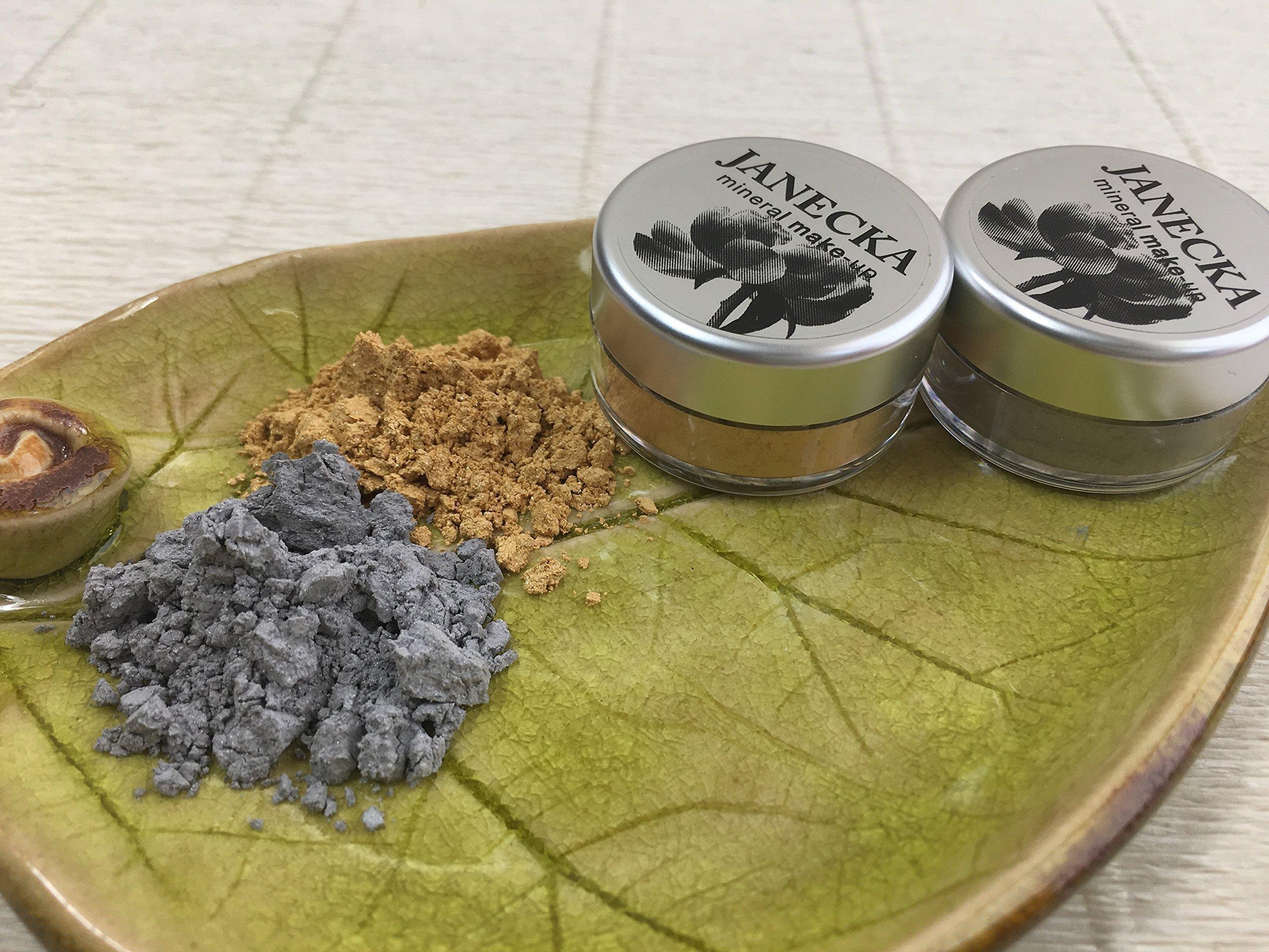 JANECKA Shimmer Eye Shadow - Handcrafted - Mineral Make-Up - Gift Set