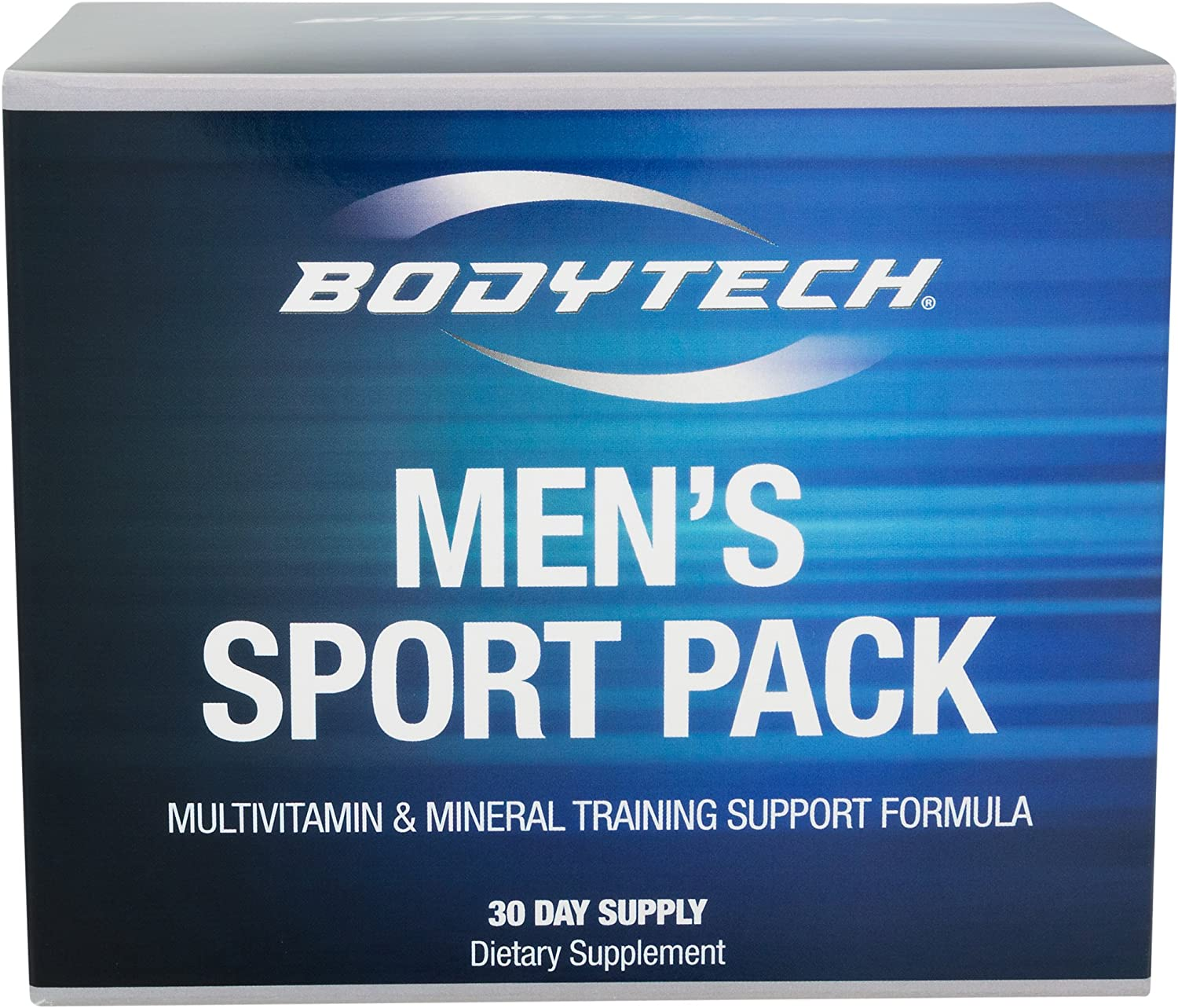 BodyTech Men s Sport Pack Multivitamin Mineral Training Support Formula with Antioxidants Herbs, High Potency Combination 30 Day Supply