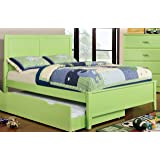 Furniture of America Kolora Youth Bed, Green, Full