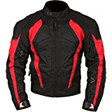 Milano Sport MJGAM0385XL Gamma Motorcycle Jacket with Red Accent (Black, X-Large)