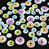 Halloween Bright Colors Wiggle Googly Eyes - Arts and Craft Supplies Wiggly Googly Eyes - 75 Pieces - Assorted Sizes