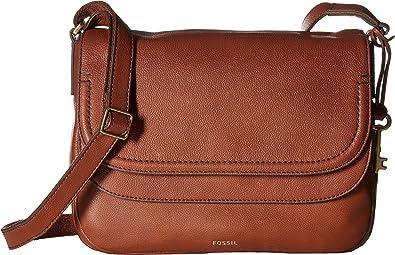 36bfa6bd947 Fossil Women's Peyton Flap Crossbody Brown One Size: Handbags: Amazon.com