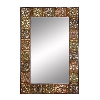 Aspire Anima Print Metal Wall Mirror, 36 , Multicolor
