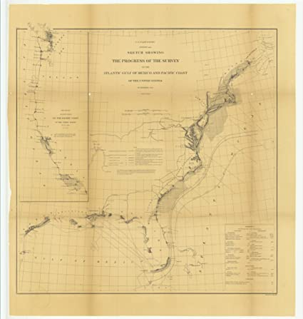 Mexico Maine Map.Amazon Com Vintography 8 X 12 Inch 1866 Maine Old Nautical Map