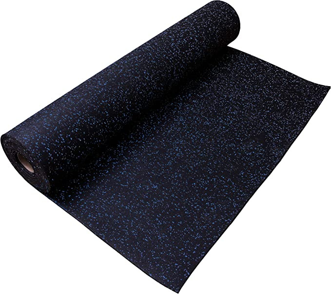 IncStores 8mm Strong Rubber Gym Flooring Rolls Non-Slip Equipment /& Protective Mats