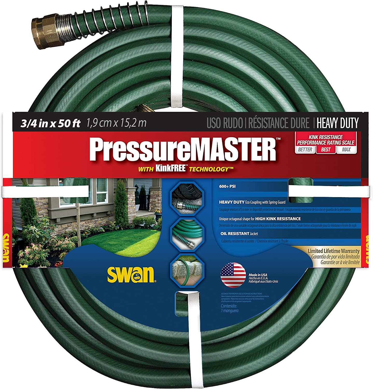 Swan Products SN7934050 PressureMASTER Heavy Duty Kink Resistant Garden Hose 50' x 3/4
