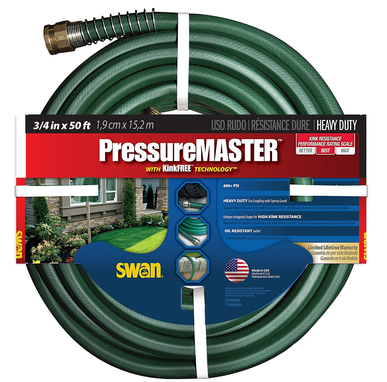 Amazon.com: Swan SN7934050 Pressure Master Heavy Duty Hose, 3/4 Inch By 50  Feet: Garden U0026 Outdoor