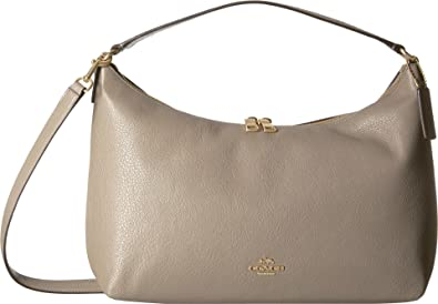 Image Unavailable. Image not available for. Color  COACH Women s Pebbled  Leather East West Celeste Convertible Hobo Im Fog One Size b1e5111727