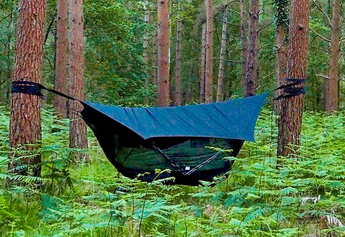 Hammock Bliss Sky Tent 2 - A Revolutionary 2 Person Hammock Tent - Waterproof and Bug Proof Hanging Tent Provides Spacious and Cozy Shelter For 2 Camping Hammocks - Embrace Hammock Camping Comfort by Hammock Bliss (Image #9)