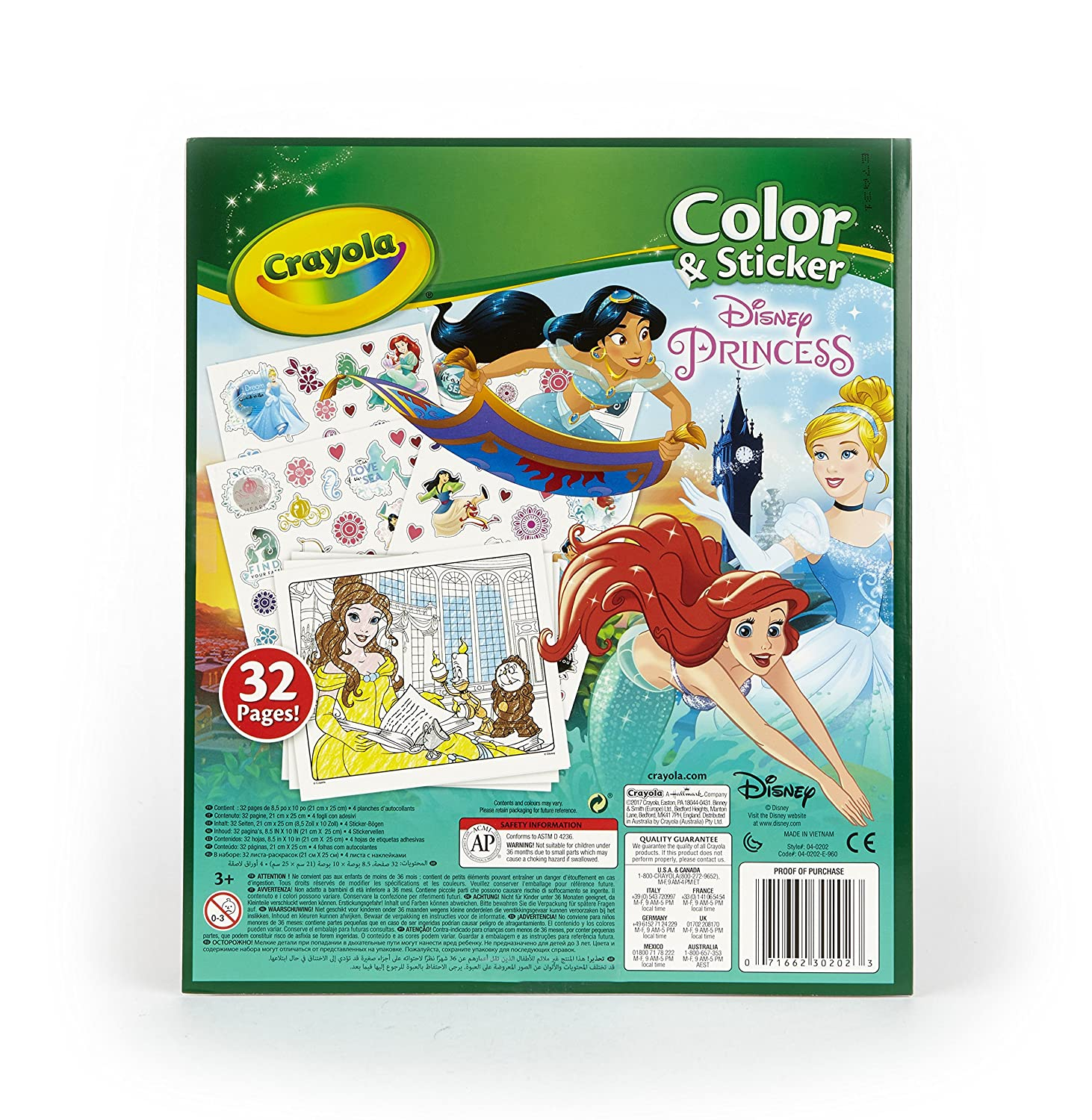 Crayola-Disney Disney Princess Colour and Sticker Book ...