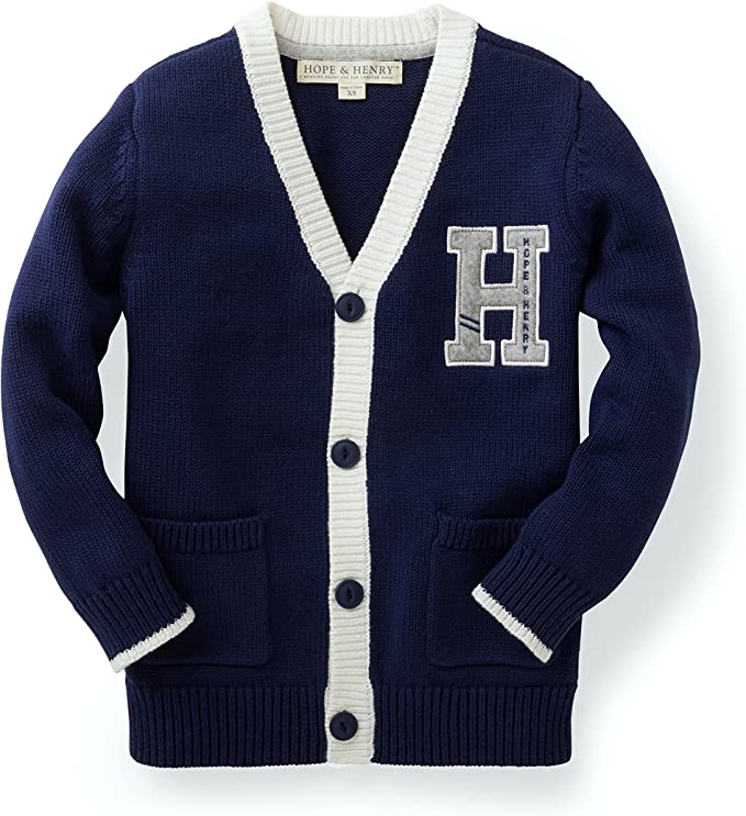 1940s Children's Clothing: Girls, Boys, Baby, Toddler Hope & Henry Boys Cardigan Sweater $24.95 AT vintagedancer.com