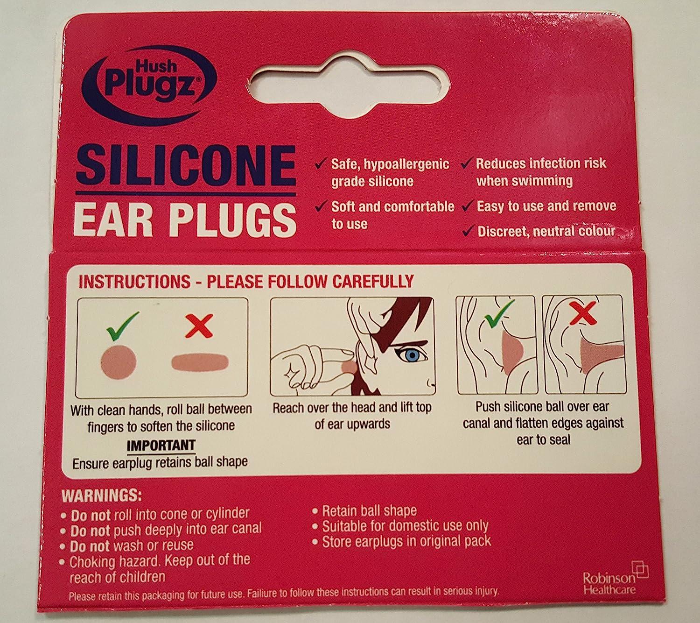 7 Packs Pack of 7 Hush Plugz Silicone Earplugs