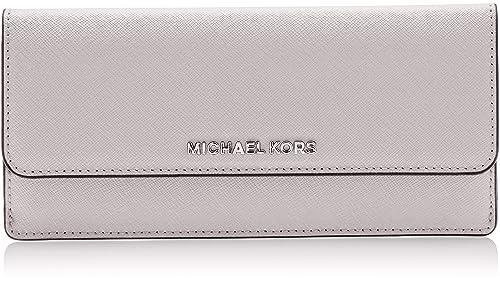 Michael Kors - Flat, Carteras Mujer, Grau (Aluminum), 2x9x20 cm (
