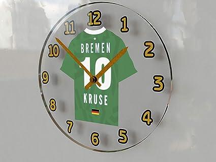 MyShirt123 - Reloj de pared personalizable, diseño de camisetas de equipos de la Liga de Campeones de la UEFA