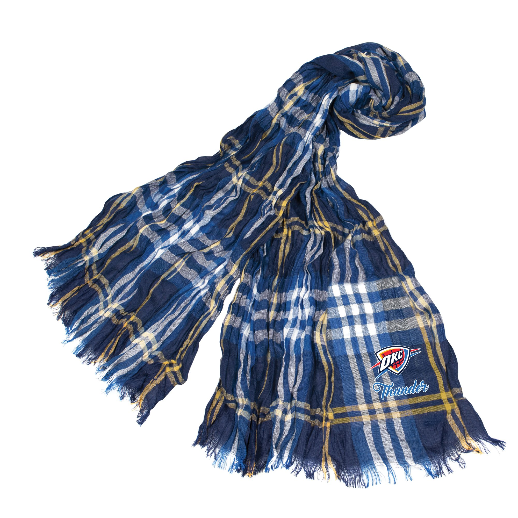 Littlearth NBA Oklahoma City Thunder Sheer Infinity Plaid Scarf by Littlearth