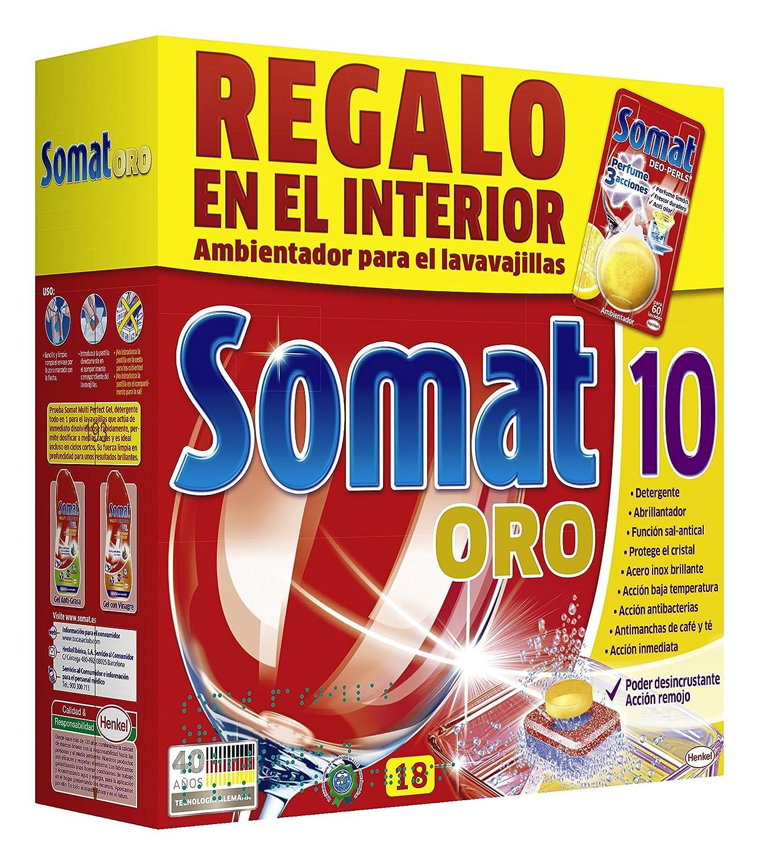 Somat - Ambientador para lavavajillas (paquete de 18 pastillas ...