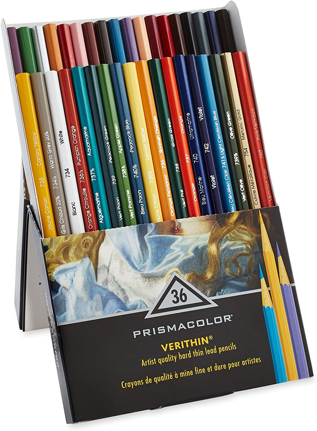 Prismacolor Premier Verithin Colored Pencils, Assorted Colors, 36 Pencils, Pack of 1 Box (2428) : Wood Colored Pencils : Office Products