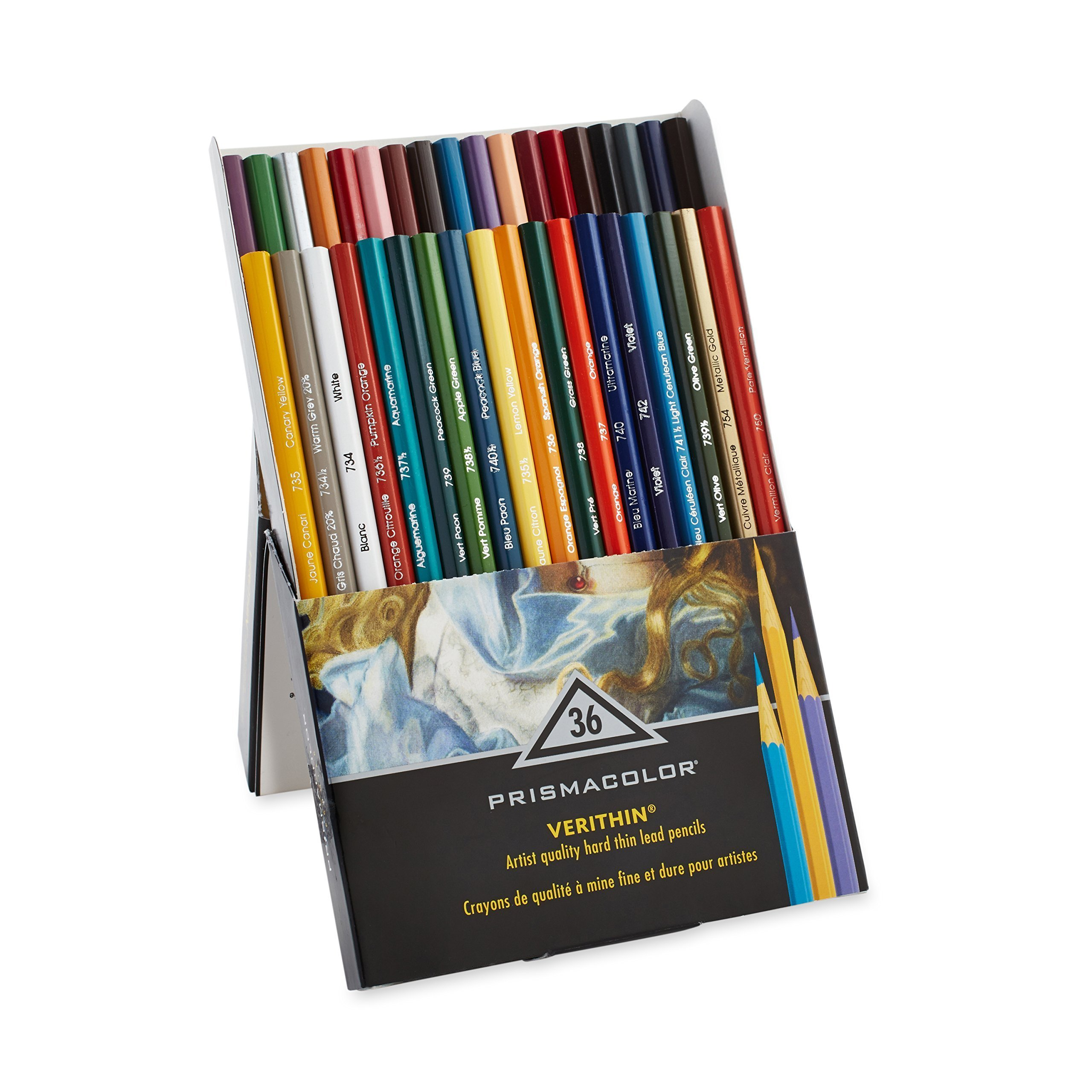 Prismacolor Premier Verithin Colored Pencils, Assorted Colors, 36 Pencils, Pack of 1 Box (2428) by PRISMACOLOR