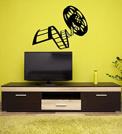 Amazon.com: Wall Stickers Vinyl Decal Movie Reel Of Film Cinema ...