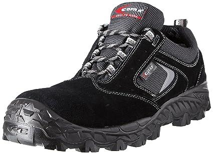Cofra New Suez S1 P SRC, Zapatillas de Seguridad, Negro/Gris, 48
