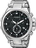 Akribos XXIV Men's Extremis Round Chronograph Quartz Movement Watch with Stainless Steel Bracelet
