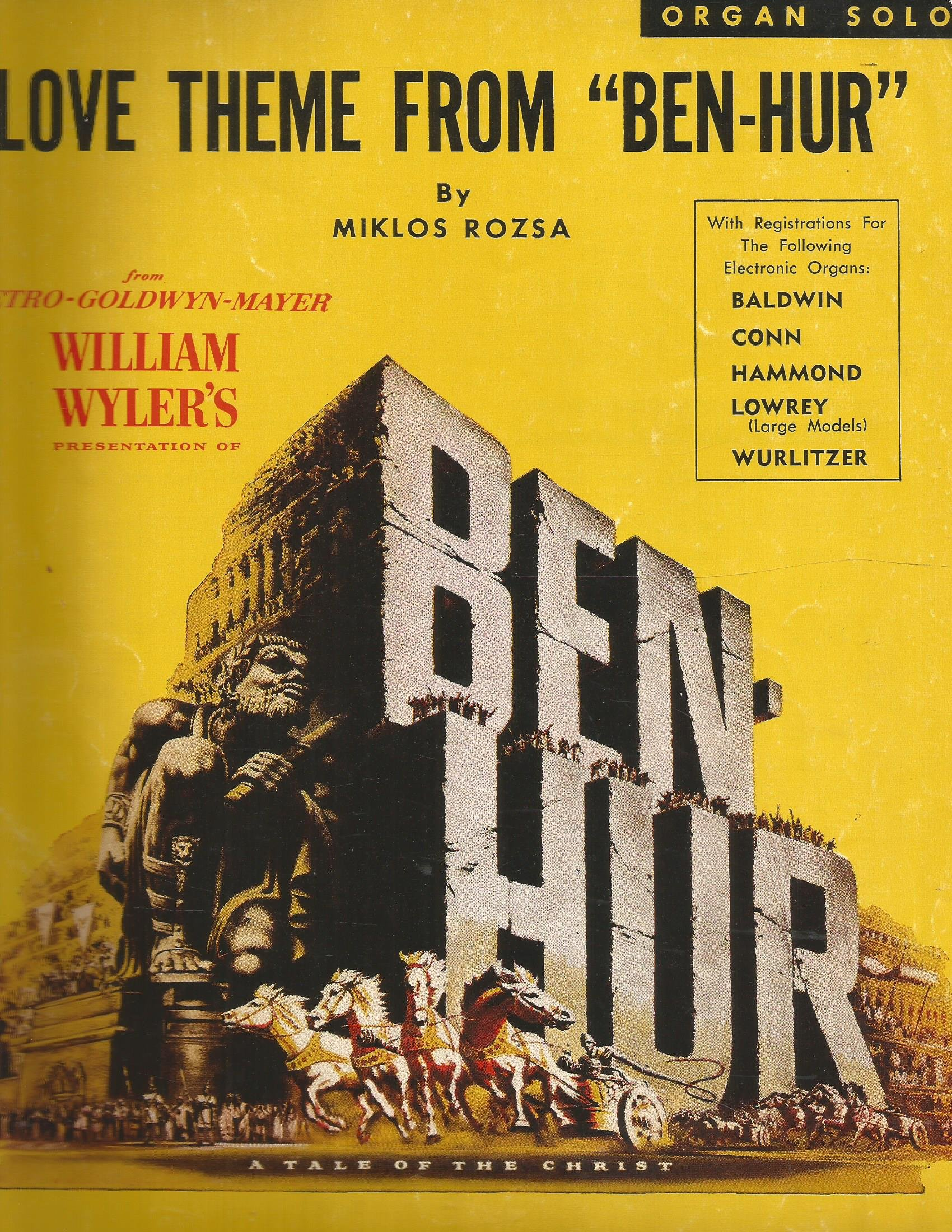 Love theme from ben hur by miklos rozsa for organ solo miklos love theme from ben hur by miklos rozsa for organ solo miklos rozsa amazon books fandeluxe Images