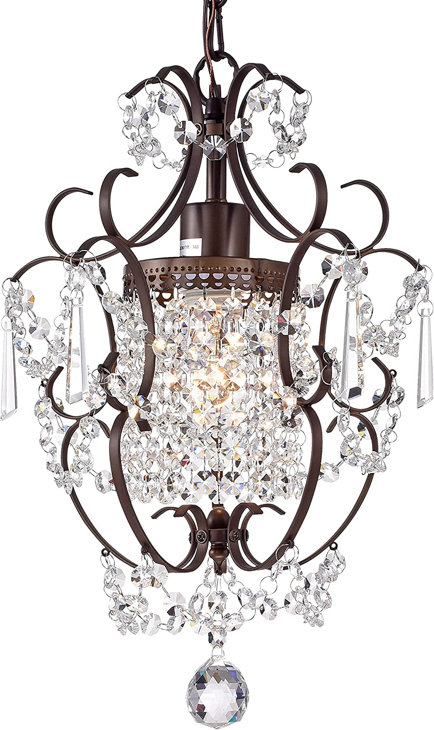 Romantic bronze and crystal chandelier for French country, shabby chic, and Nordic French interiors. #chandeliers #crystalchandelier