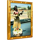 Craig Frames Vintage Gold Bamboo Composite Picture Frame, 20 by 30-Inch