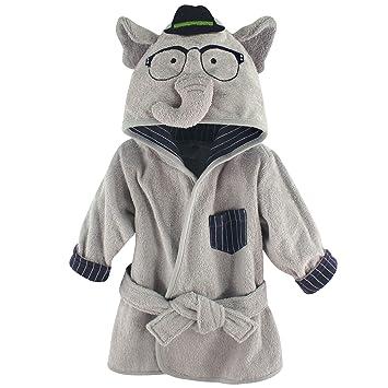 93a46f107f1c Amazon.com  Hudson Baby Animal Face Hooded Bathrobe