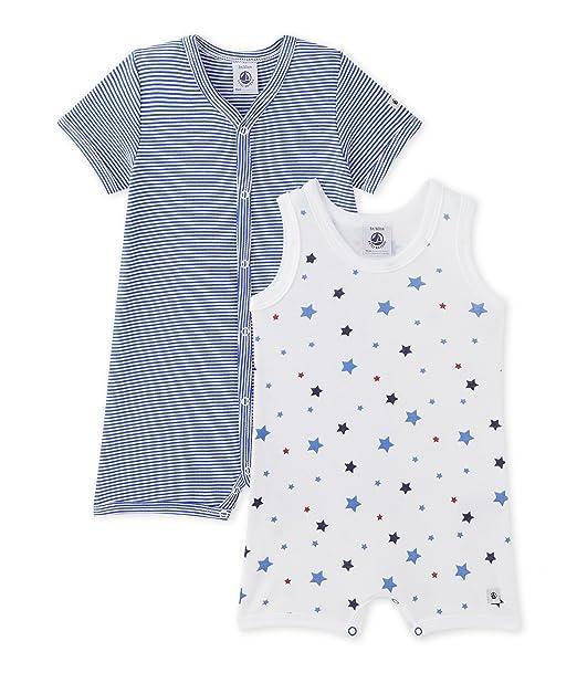 Petit Bateau Mimi, Conjuntos de pijama Bebé-Niños, Multicolor (Blue/White