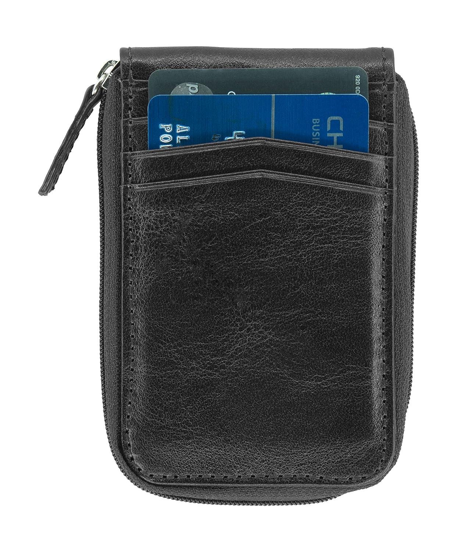 Amazon.com: De los hombres RFID cierre cartera (ID de ...