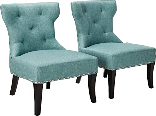 Christopher Knight Home Genevieve Fabric Accent Chair, Blue