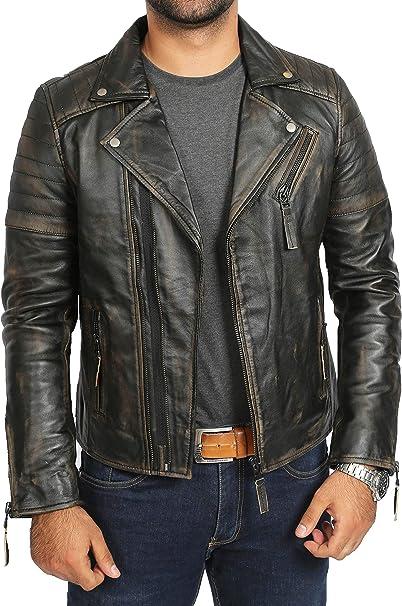 hommes cuir nappa souple Blazer classique mode vintage manteau