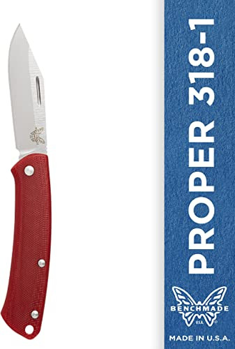 Benchmade – Proper 318 Knife, Clip-Point Blade