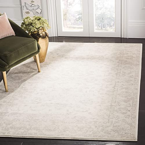 Safavieh Carnegie Collection CNG621C Vintage Cream and Light Grey Distressed Area Rug 9' x 12'