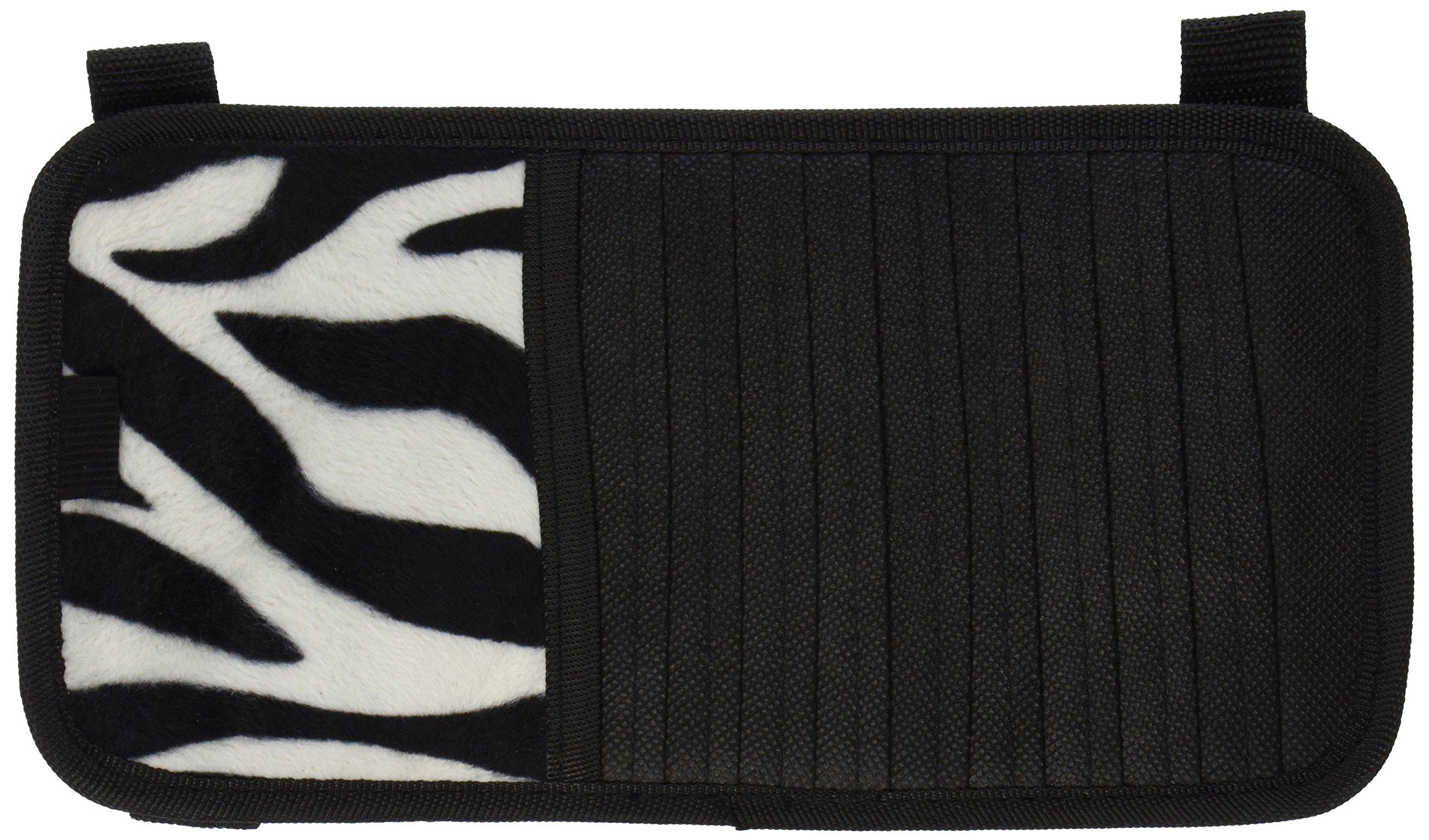 LA Auto Gear White Zebra Animal Print 10 CD/DVD Car Visor Organizer