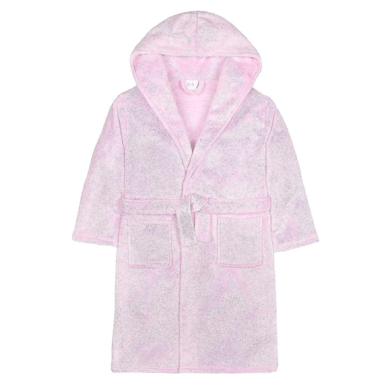 4Kidz Girls Glitter Fleck Fleece Dressing Gown with Hood